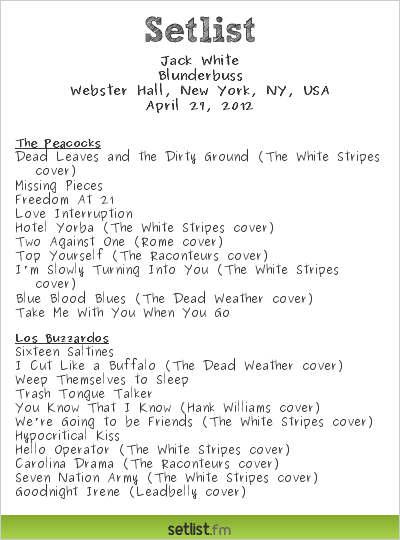 setlist image v1 Watch Jack Whites Unstaged concert in full