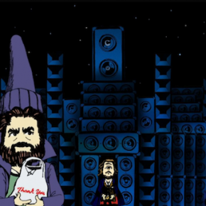 A cartoon Zach Galifianakis stars in My Morning Jacket video