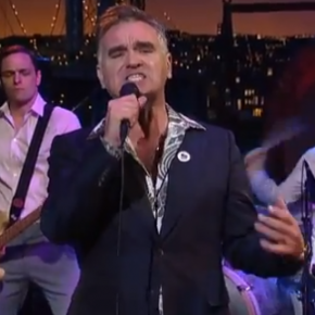 While you were sleeping: Morrissey played Letterman